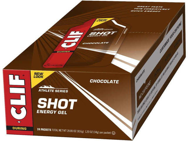 CLIF Bar Shot Gel Box 24 x 34g Schokolade